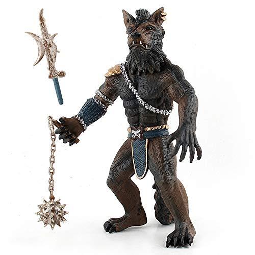 BOHS Solider Werwolf Soldat Actionfigur mit 2 Waffen, Fantacy-Modellspielzeug, 19,5 cm