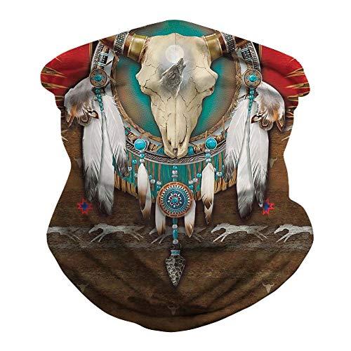 LZXMXR Fahrrad-Reiten Maske, Außen Ice Silk Insect-Proof Sonnenschutz Sport-Haar-Band, Digital gedruckte Schal Magie Stirnband (Color : D)