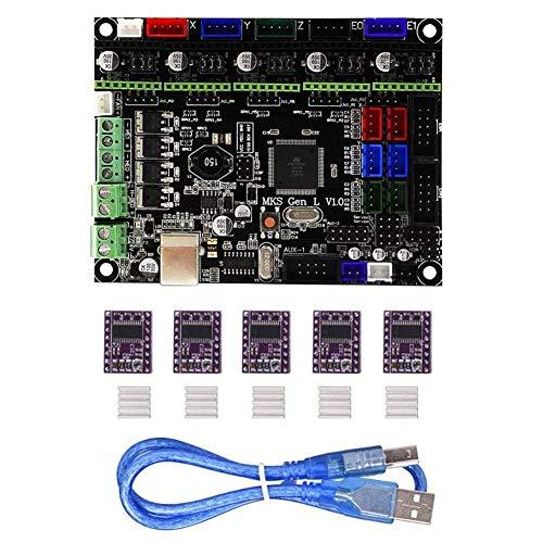 BXU-BG MKS-GEN L Contrôleur intégré V1.0 + Mainboard de DRV8825 Stepper Motor Driver Compatible Ramps1.4 / Mega2560 R3 for imprimante 3D