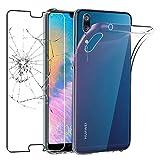 ebestStar - kompatibel mit Huawei P20 Hülle Handyhülle [Ultra Dünn], Durchsichtige Klar Flex Silikon Schutzhülle, Transparent +Panzerglas Schutzfolie [P20:149.1x70.8x7.7mm 5.8