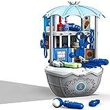 DQTYE Kit medico per bambini 49 pezzi kit medico realistico dentista fingere giocare giocattoli dottore set per bambini con custodia per il trasporto giocattoli educativi per ragazze ragazzi e bambini