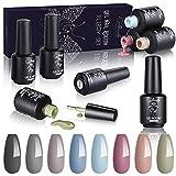 Creamify Esmaltes Semipermanentes de Uñas en Gel UV LED -8 Colores Esmaltes de Uñas en Gel 8pcs Kit de Esmaltes de Uñas 8ml (Otoño Invierno Workplace Women Series)