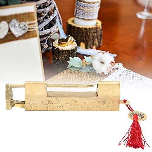 Cerradura China, Cerradura de Hardware, latón, 6,5 cm, Antiguo para Cajas de Madera