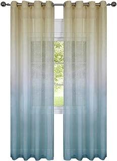 GoodGram 2 Pack Semi Sheer Ombre Chic Grommet Curtain Panels - Assorted Colors (Citrus Multi)
