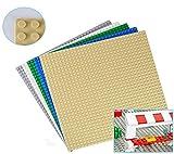 Modbrix, piastre di base da incastro per Lego, da costruzione, 32 x 32, 25,5 x 25,5 cm, 5 pezzi, colori assortiti