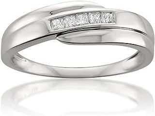 Best mens wedding rings with princess cut diamonds Reviews