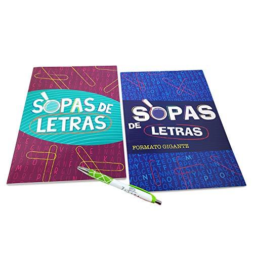 Giant Print Spanish Word Search Puzzle Book with Free Pen   Libros de Rompecabezas (2 Pack) Sopas de Letras Formato Gigante con Bolígrafo Gratis