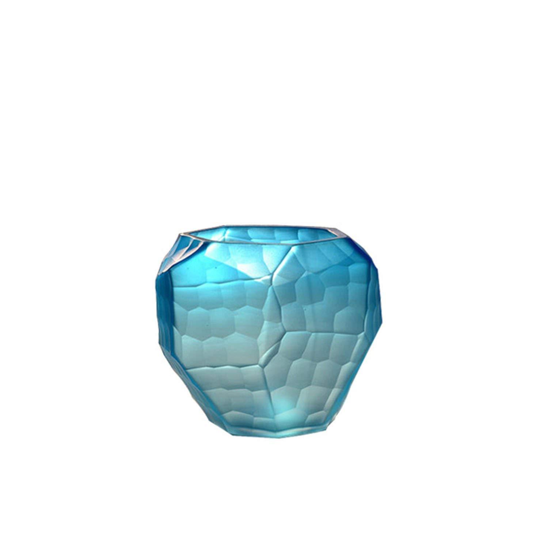 18 cm Verre souffl/é Fait /à la Main CRISTALICA Design Vase en Verre Art Glass Powered by Collection Moonlight Violet Deco Vase