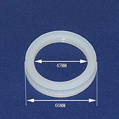 Ochoos 20Pcs Silicon Seal Ring for Vacuum Tube Solar Water heaters,Dia.58mm or 47mm White Ring Gasket Size: 58mm, Color: White