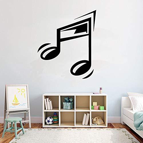 wopiaol kamerdecoratie vinyl muursticker muziek melodie muzieknoten sticker gitaar gitarrist muziek toetsenbord hoofdtelefoon sticker 67 x 57 cm