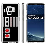 Samsung Galaxy S8 Soft Mold [Mobiflare] [Clear] Thin Gel Protect Cover - [NES Video Game Controller] for Samsung Galaxy [S8] [5.8' Screen Size]
