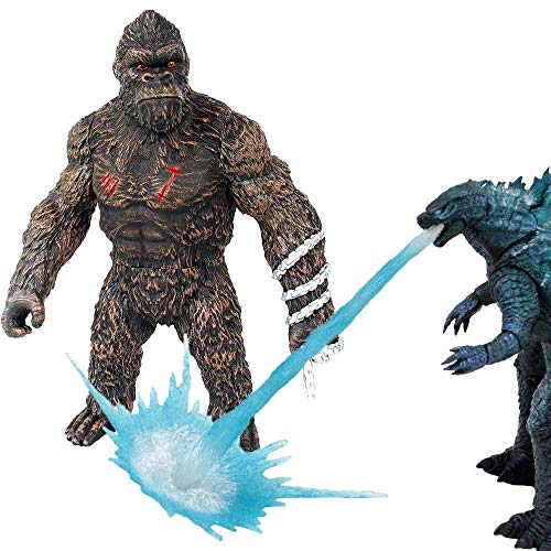 GGGJJJ 2021 King Kong Vs Godzilla Toys Skull Island,Godzilla with Heat Wave,Godzilla vs Kong Toy 2021,Gifts for Movie Fans Kid Adult(Brown-Godzilla_vs_Kong
