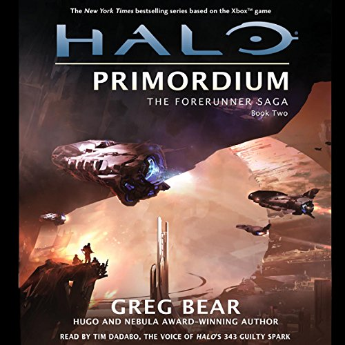 Halo: Primordium by Greg Bear - In the wake of apparent self-destruction of the Forerunner empire, two humans - Chakas and Riser - are like flotsam washed up on very strange shores indeed....