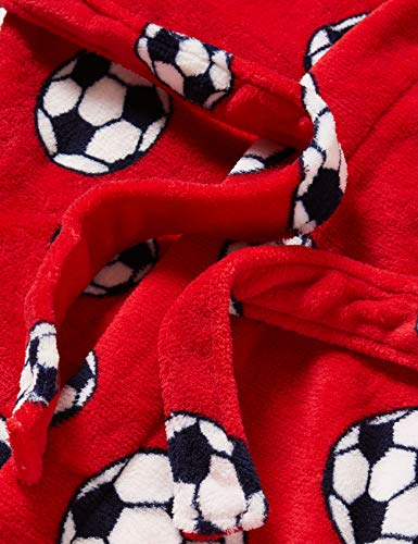 Playshoes Kuschelweicher Fleece Morgenmantel Fußball Capo d'Abbigliamento Bambino 4