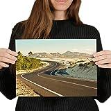 Póster de vinilo de Destino A4 – Corralejo Fuerteventura Canarias – Papel fotográfico satinado #16563