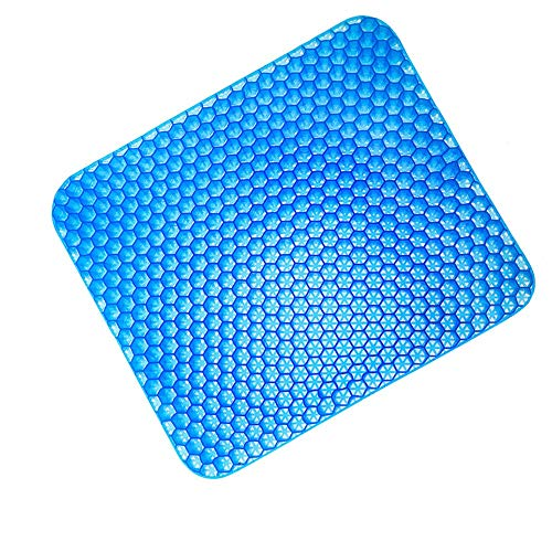 YLiansong-home Seat Cushion Chair Cushion Gel Seat Cushion Breathable Absorbs Pressure Points Support Cushion Good Sitting Posture Cushion Car Office Washable Lid (Color : Blue, Size : 42X42X4CM)