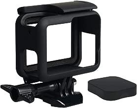 Harwerrel Frame Mount Housing Case with Silicone Lens Cover for GoPro Hero7 Hero 2018 Hero6 Hero5 Black Action Camera