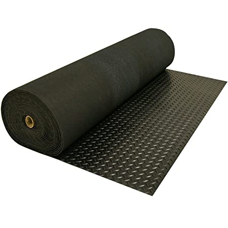100 x 100cm, Tr/änenblech Gummimatte Gummil/äufer Schutzmatte Anti Rutsch Bodenbelag 100cm Breite 3mm Gummiboden