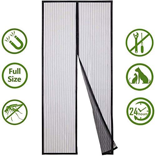 QWEAS Magnetgittertür, Magnet-Vorhang-Netz Anti Insektennetz Fliegengitter Moskitoschutznetz für Türen Fenster Tür-Schirm Küche Vorhänge