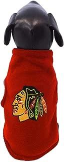 All Star Dogs Chicago Blackhawks Sleeveless Fleece Pet Vest, Small