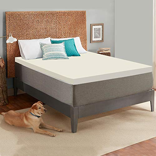 Mayton 2-Inch High Density Foam Topper,Adds Comfort to Mattress, Full Size, Beige