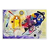 CanvasArts Gelb Rot Blau - Wassily Kandinsky - Poster (60 x