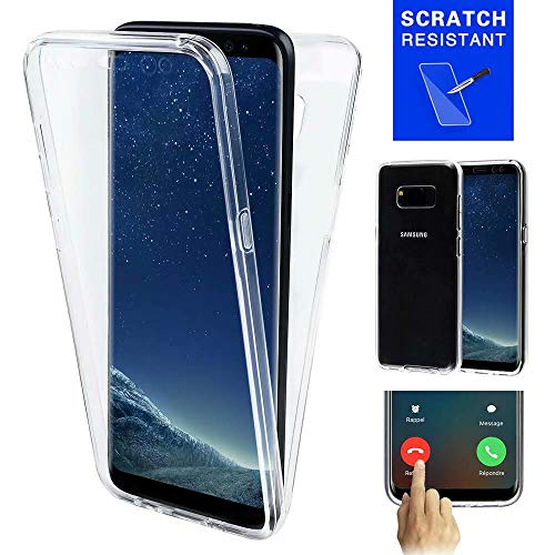"SevenPanda iPhone XS Hülle, iPhone X Hülle Transparent Stoßfest Anti-Scratch TPU und Acryl Zurück 2 Stücke Schutzhülle Clear Ultradünne Handyhülle für iPhone 10 5.8"" (Klar)"