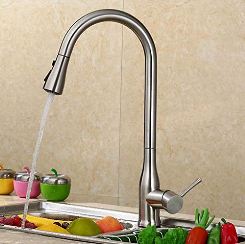 FZHLR Ziehen Sie Den Küchenarmatur Wannenhahn Warmes Und Kaltes Wannenhahn Kupfer Teleskopischen Rotierenden Wasserhahn