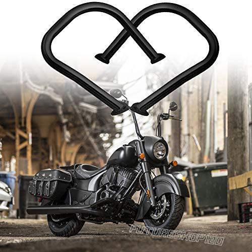 XFMT Chrome Engine Guard Highway Crash Bar Compatible with Harley Softail Fat Boy Lo FLSTFB 2000-2017