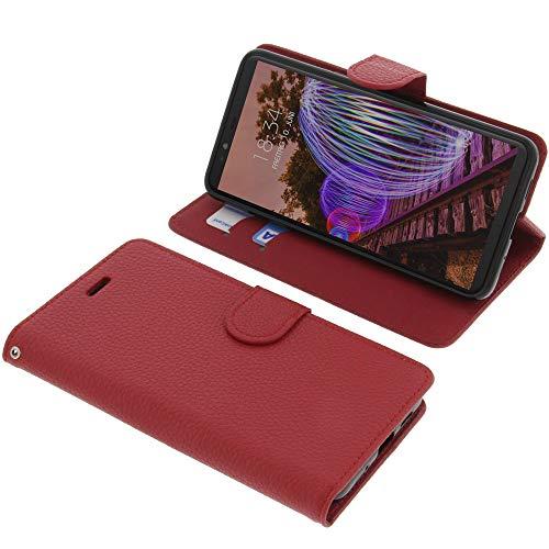 foto-kontor Tasche für JVC J20 Book Style rot Schutz Hülle Buch