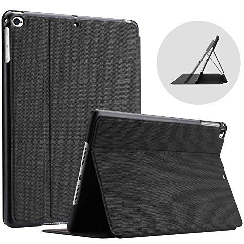 "ProCase Étui pour iPad 9.7"", iPad 6, iPad 5, iPad Air 2, iPad Air 1, Modèle: A1893 A1954 A1822 A1823 A1566 A1567 A1474 A1475 A1476, Étui Housse de Protection Anti-Chute, Rabat Magnétique Stable-Noir"