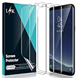 [3 Pack] L K Screen Protector for Samsung Galaxy S8 Plus, [Self Healing] [Full Coverage] [Case Friendly] HD Effect Flexible Film