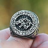 CTDMMJ Anillos de Lobo Hambriento para Hombres Regalo Hip HopRing Punk Jewelry Bague