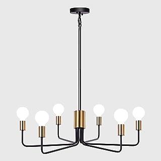 Modern Chandelier Light Fixture Ceiling Hanging 6-Light,...