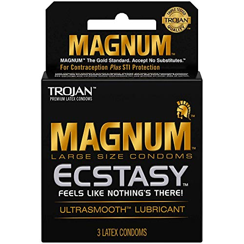 Trojan Condoms Magnum Ecstasy Ultrasmooth Lubricated, 3 Stück