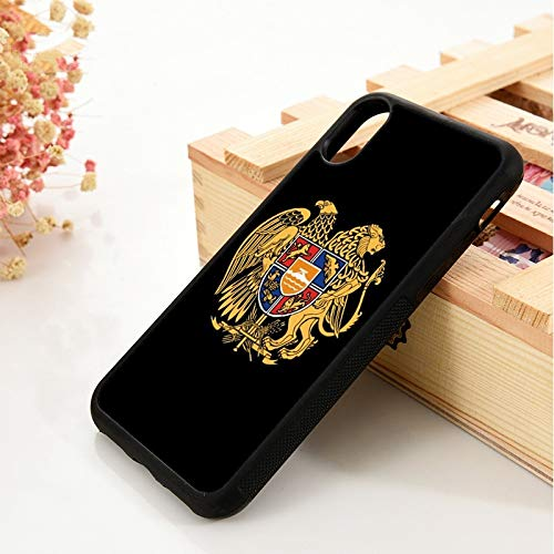 WGOUT para iPhone 5 5S 6 6S Funda de Silicona TPU Suave   para iPhone 7 Plus XX 11 Pro MAX XR Armenia Lambang Bendera, para iPhone 5