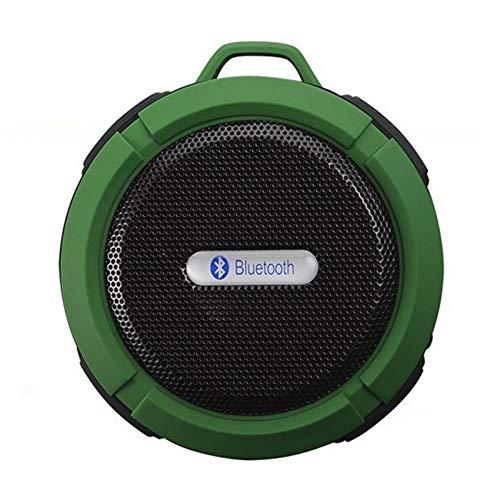 XiaoDong1 Mini altavoz portátil impermeable verde Bluetooth V3.0 carga inalámbrica 5W - se aplica a la ducha de la piscina del coche, oficina u oficina