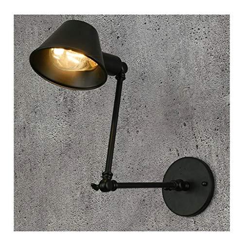 A-ZHP W. Estilo Americano Lámpara de Pared Simple Personalidad Corredor Estudio Dormitorio Lámpara de Noche Retro Telescópica Ajustable Lámpara de Pared Decorativa [Clase de energía A ++]
