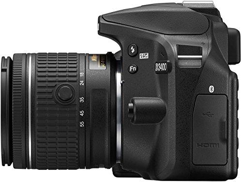 Nikon D3400 Appareil Photo Numérique Réflex 24.2 Mpix Kit Objectif AFP DX 1855 VR Noir