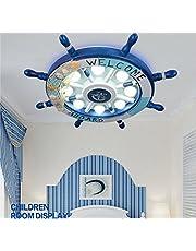 NJ JN Timón Creativo Niño Habitación Techo Lámpara Ojo Led Niño Niña Dormitorio Principal Lámpara de Iluminación,Luz Blanca -43cm