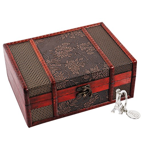 """SICOHOME Treasure Box,9.0"""" Grape Tarot Card Box for Jewelry ,Tarot Cards,Gifts and Home Decoration"""