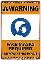 【eiwasailsors】コロナ対策注意看板 マスク着用 ポスター メタルサイン  金属 TIN SIGN お部屋 お店 壁飾り 個性 インテリア アメリカ雑貨 アメリカンブリキ看板 レトロ調  20x30cm