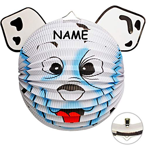 alles-meine.de GmbH 3D Effekt _ Laterne / Lampion - Hund - Eisbär - Bär - inkl. Name - aus Papier - für Kinder - Papierlaterne - Lampe - Laternen Lampions - Kerzen Kerze - Figur ..