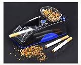 Electric Cigarette Tobacco Rolling Automatic Roller Maker Mini Machine,Men's Father's Best Gift (Blue)