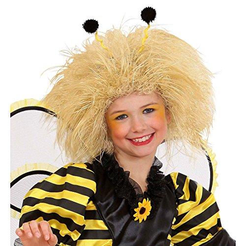 Amakando Perruque Abeille Bourdon Mignon pour Enfant Cheveux ondulés Elfe Blond crinière de Lion fête d'anniversaire Carnaval des Enfants Accessoire déguisement