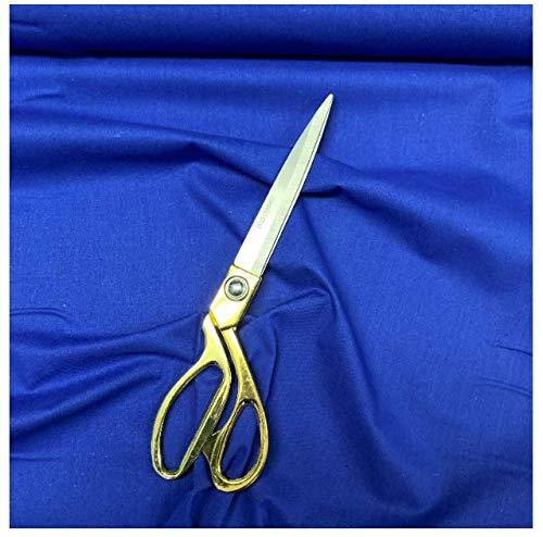 The Meter - Tela de algodón 100% artesanal (112 cm de ancho, 20 colores lisos, color azul real)