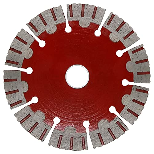Disco de Corte Diamantado Madera, 135mm Disco Diamantado amoladora con engranaje de ensanchamiento para la decoración de la casa de piedra, 135×22.23×2mm