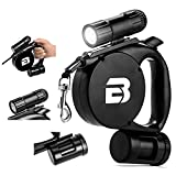 The Furry Pal 3 in 1 Retractable Dog Leash (LED Light + Bag Dispenser) - Durable Thick & Adjustable 15 Foot Leashes - Best for Training - Walking - Jogging - Small - Medium - Large - Strong Dogs
