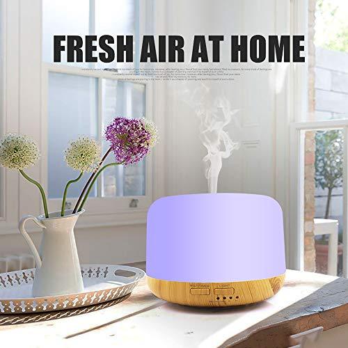 Kotee Aromatherapie-Diffusor Luftbefeuchter mit LED-Nachtlampen-Air Dampener Aroma Diffuser kühlen Nebel-Maschine Ätherisches Öl Ultraschall-Nebel-Hersteller Quiet Luftreiniger Bunte Lichter