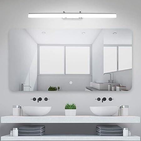 Klighten Lampe pour Miroir LED Salle de Bains IP44 18W Lampe Miroir Applique Murale Intérieure Moderne Luminaire Salle de Bain Blanc Neutre 5500K 80CM
